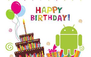 Google Play празднует свой первый день рождения.