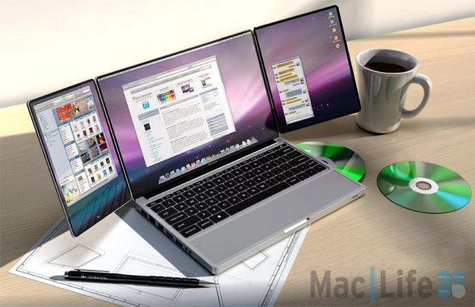 Apple triBook – ноутбук со складным дисплеем