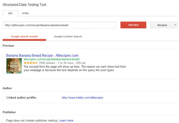 Google обновил инструмент тестирования расширенных сниппетов
