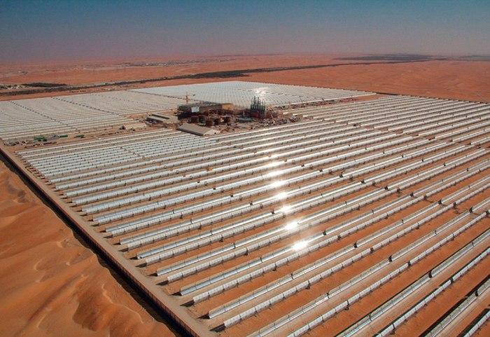 Shams 1 - крупнейшая в мире солнечная электростанция